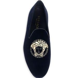 NEW Versace velvet loafers